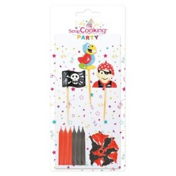 Bougies Party Candles Pirates 15 pces  - Scrapcooking