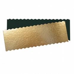 Rechthoekige Taartkartons 30 x 10 cm Goud en Zwart 5 dlg - Scrapcooking
