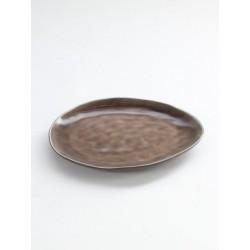 Pascale Naessens Pure Assiette Ovale Medium 20x17 cm Brun  - Serax