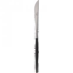 Goa Couteau à Steak Brossé Manche Noir