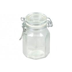 Achthoekige Glazen Pot - Cosy Trendy