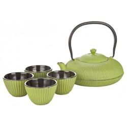 Théière Fonte Pumkin Vert Set 4 pces - Cosy Trendy