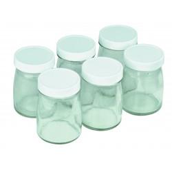 Set 6 pots verre 125ml Yaourtière - Cuisinart