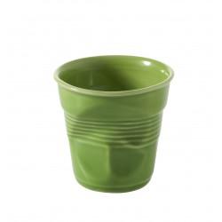 Gobelet Froissé Cappuccino 18 cl Vert Lime  - Revol