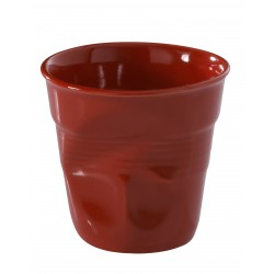Gobelet Froissé Cappuccino 18 cl Rouge Piment - Revol