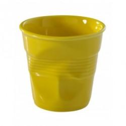 Froissé Vervormde Cappuccino Kopje 18 cl Seychelles Geel  - Revol