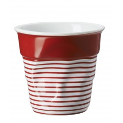 Gobelet Froissé Cappuccino 18 cl Grand Large Rouge  - Revol