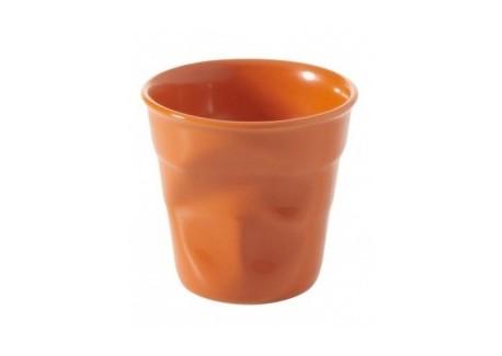 Froissé Vervormde Cappuccino Kopje 18 cl Clementine Oranje - Revol
