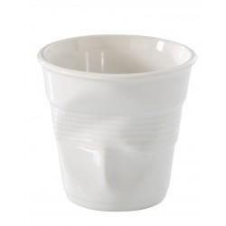 Gobelet Froissé Cappuccino 18 cl Blanc - Revol