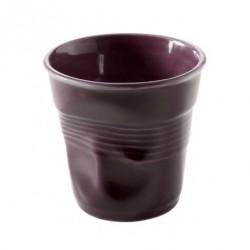 Gobelet Froissé Cappuccino 18 cl Mauve Aubergine  - Revol