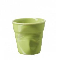 Gobelet Froissé Espresso 8 cl Vert Verveine  - Revol