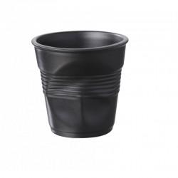 Froissé Vervormde Espresso Kopje 8 cl Satijn Zwart  - Revol