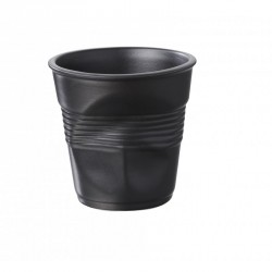 Gobelet Froissé Espresso 8 cl Noir Satiné  - Revol
