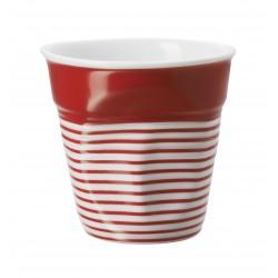 Gobelet Froissé Espresso 8 cl Grand Large Rouge  - Revol