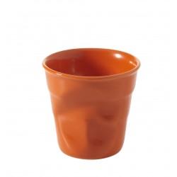 Gobelet Froissé Espresso 8 cl Orange Clémentine - Revol