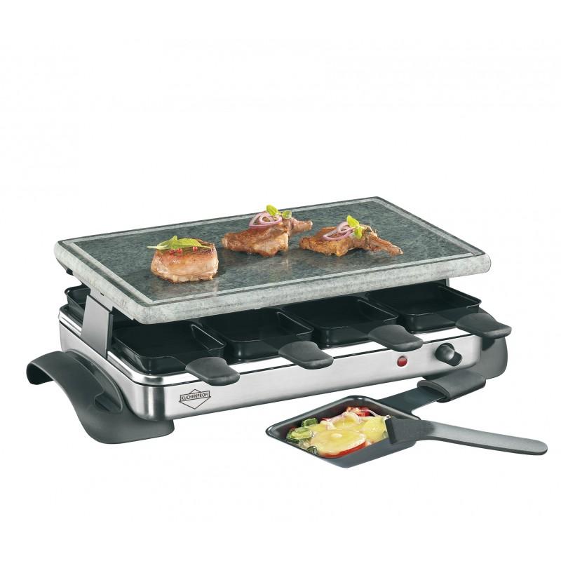 kuchenprofi hot stone exclusive raclette 8 pers les secrets du chef. Black Bedroom Furniture Sets. Home Design Ideas