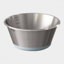 Bassine Conique Inox Fond Plat en Silicone 24 cm  - De Buyer