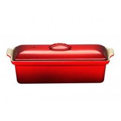 Terrine Rectangulaire Fonte 32cm Rouge Cerise  - Le Creuset