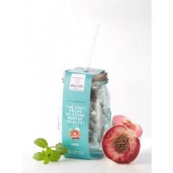 Thé Vert Glacé en Mason Jar Aromatisé Pêche-Menthe Glacée 12 pcs