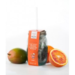 Thé Vert Glacé en Mason Jar Aromatisé Orange-Mangue 12 pcs - Quai Sud