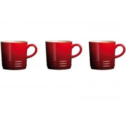 Coffret 3 Mug 20 cl Rouge Cerise  - Le Creuset