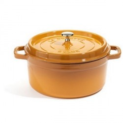 Ronde Cocotte/Braadpan 20 cm Geel Moutarde - Staub