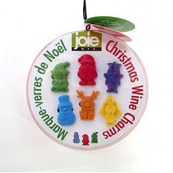 Christmas Wine Charms 6 Pcs  - Joie