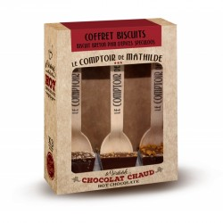 Coffret 3 Hot Chocolate Biscuits 3x30g  - Comptoir de Mathilde
