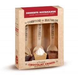 3 Hot Chocolate Desserts Gourmands Box 3x30g  - Comptoir de Mathilde