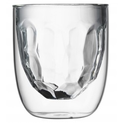 Set 2 Dubbelwandige Glazen Metal 210 ml - QDO