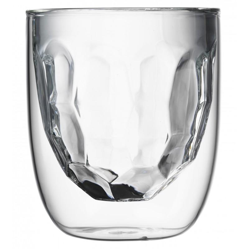 qdo set de 2 verres double paroi metal 210 ml les secrets du chef. Black Bedroom Furniture Sets. Home Design Ideas