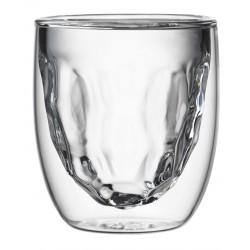 Set 2 Dubbelwandige Glazen Metal 75 ml - QDO