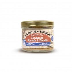 Tartinable Sardines Tomaten en Basilicum 100 g - Comptoir de Mathilde