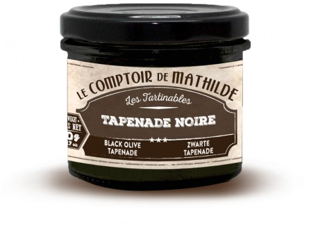 Zwarte Tapenade 90 g  - Comptoir de Mathilde