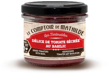 Gedroogde Tomaten met Basilicum 100 g - Comptoir de Mathilde