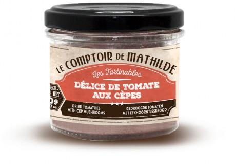 Délice de Tomates aux cèpes 100gr  - Comptoir de Mathilde