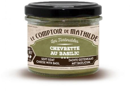 Zachte Geintenkaas met basilicum 100 g  - Comptoir de Mathilde