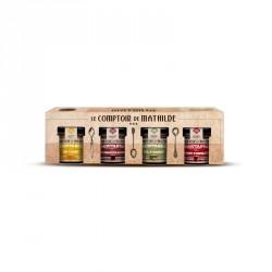 Coffret moutardes 4 Saveurs 4 x 100 g  - Comptoir de Mathilde