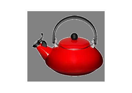 le creuset bouilloire zen rouge cerise les secrets du chef. Black Bedroom Furniture Sets. Home Design Ideas