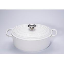 Cocotte Signature Ovale 4.1 l Blanc Coton Mat (27 cm)  - Le Creuset