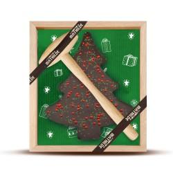 Pure Chocolade Kerstboom met Hamer 320g  - Comptoir de Mathilde
