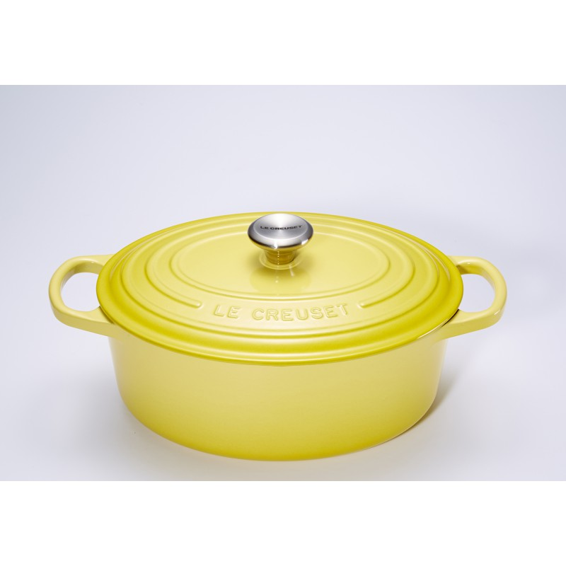 le creuset cocotte signature ovale 4 1 l soleil 27 cm les secrets du chef. Black Bedroom Furniture Sets. Home Design Ideas