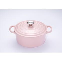 Signature Ronde Braad-/ stoofpan 4.2 l Chiffon Pink (24 cm) - Le Creuset