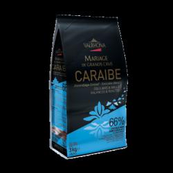 Chocolat Noir Caraibe 66% Sac fèves 3 kg - Valrhona