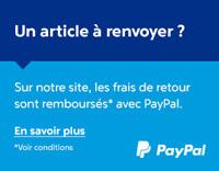 Un article à renvoyer ? Sur notre site les frais de retour sont remboursés avec PayPal