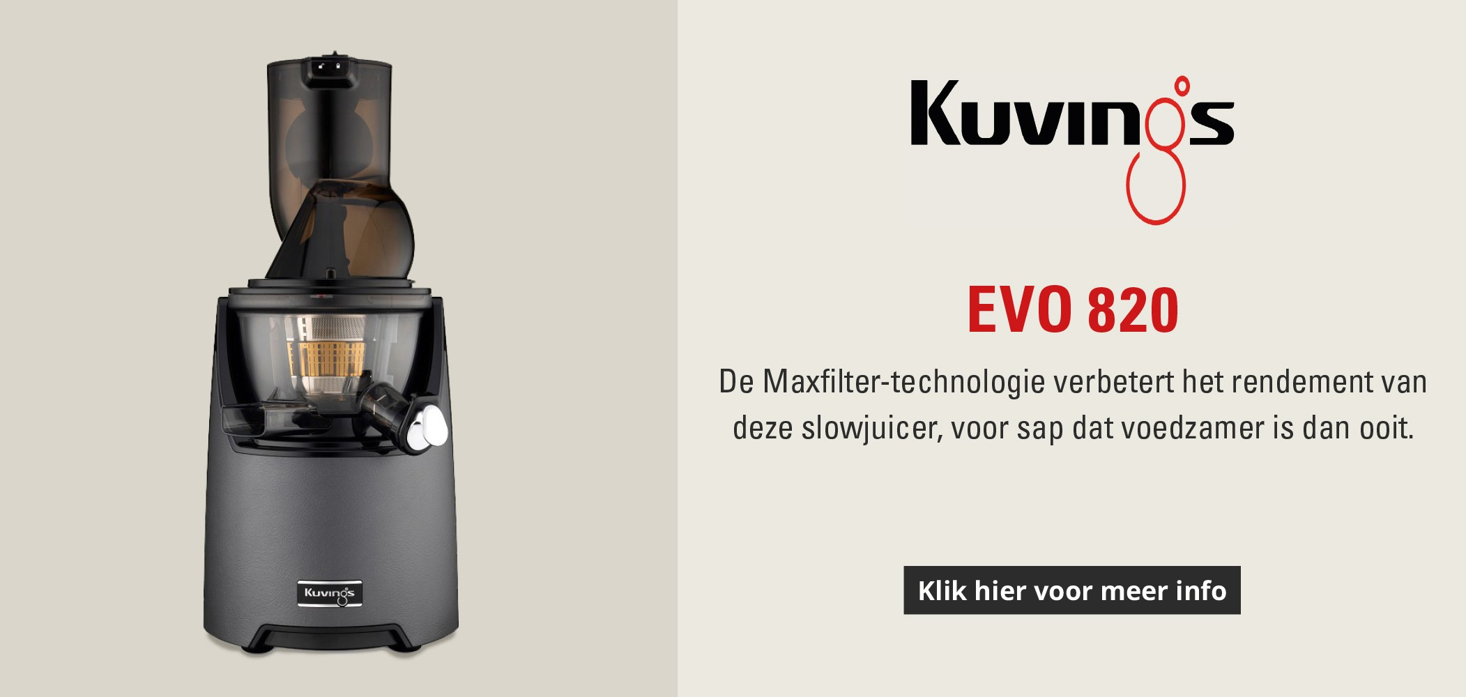 Slowjuicer Evo820 Kuvings